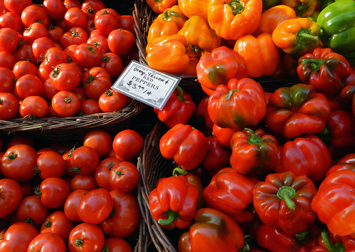 Tomatoes and Peppers at the Portland Farmer's Market