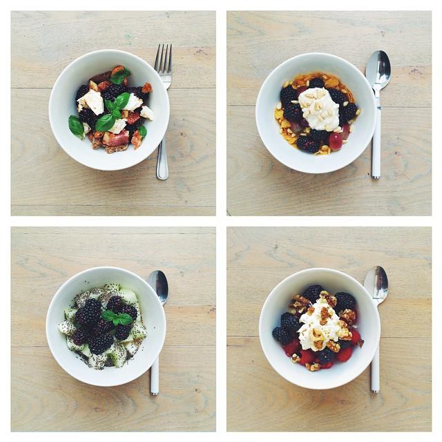 Breakfast fruit salads. Blackberries week. #instafood #instasalad #feelgood #healthy #healthyfood #saladpride #saladlove #saladjam #salad #vegetarian  #desk #veg  #cleaneat #eatclean #nutrition #nutritionist #fit #fitness  #breakfast #fruitsalad  #healthn