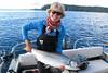 Salmon fishing at Langara Fishing Lodge