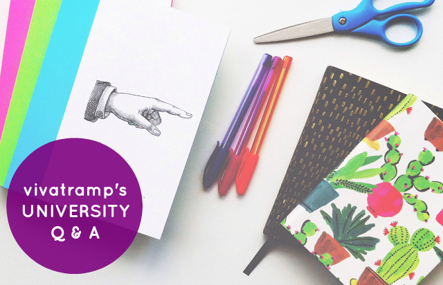 vivatramp university q and a lifestyle book blogger studying a creative course going to university with an illness
