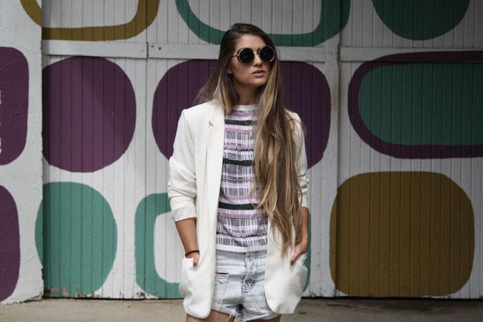 Fringe of the Cro | Modern Womens Style in Zara sunglasses and one teaspoon shorts.