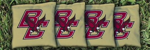 BOSTON COLLEGE EAGLES GOLD CORNHOLE BAGS