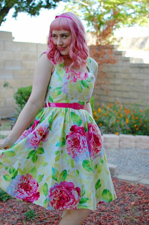 bernie dexter veronique blush cabbage rose dress 8