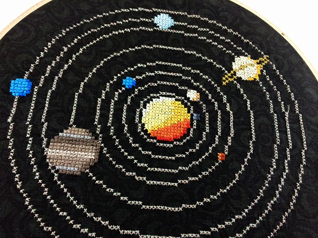 Solar System Cross Stitch