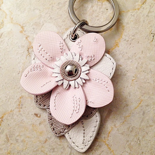 Coach Factory Floral keychain