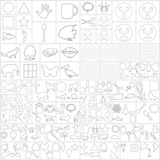 Stencil Version Infant Stimulation Supplies