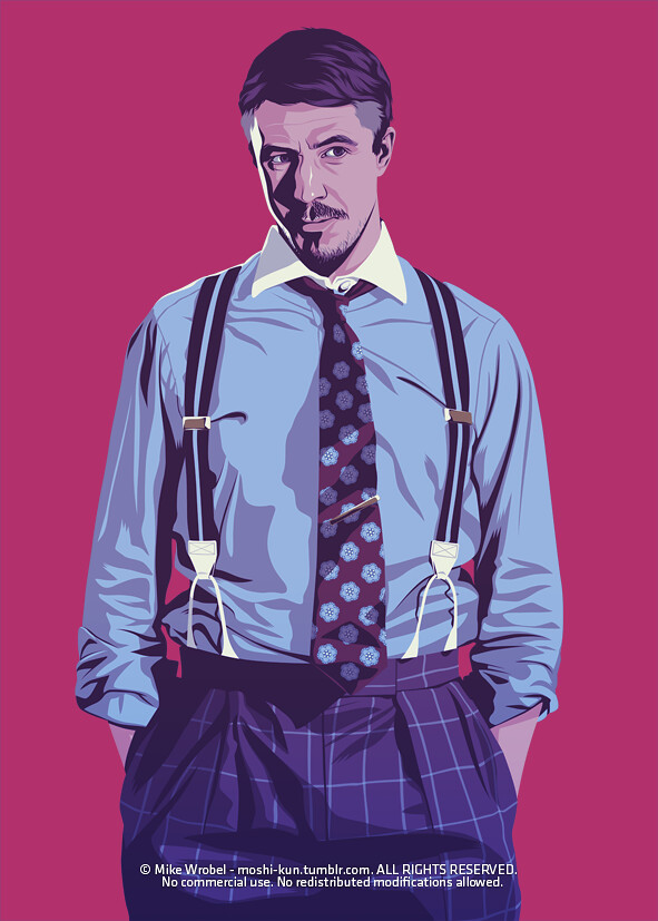 30 Petyr Baelish, Master of Coin, as an 80's stockbroker.
