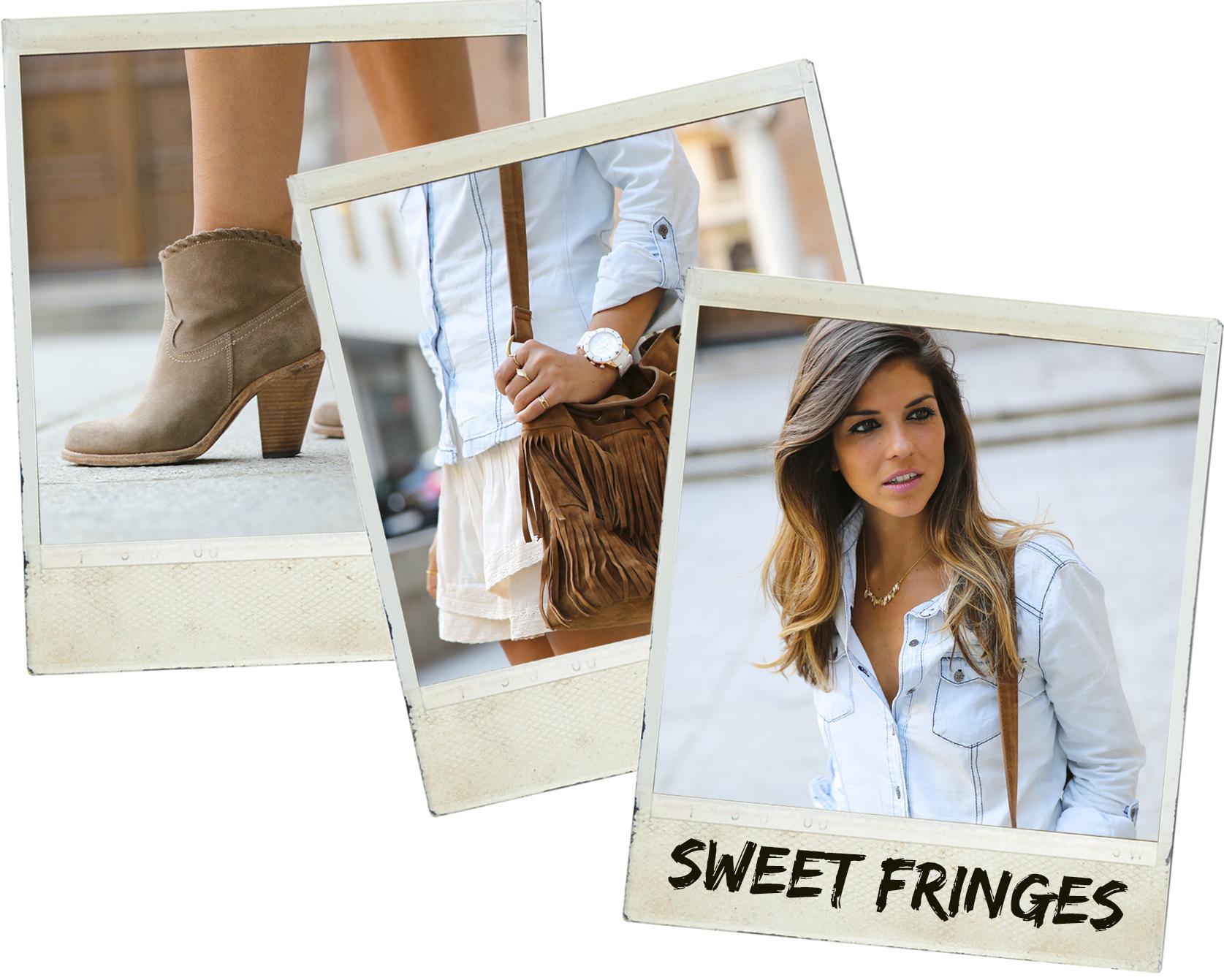 trendy_taste-look-outfit-street_style-denim-blog-blogger-fashion_spain-moda_españa-botines_camperos-it_shoes-cowboy_booties-skirt-falda-bolso_flecos-fringes_bag-camisa_vaquera-denim_shirt-polaroid