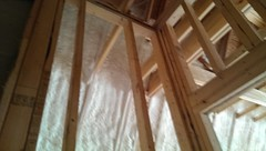 Modern spray foam insulation. House so tight a fresh air intake is part of HVAC system