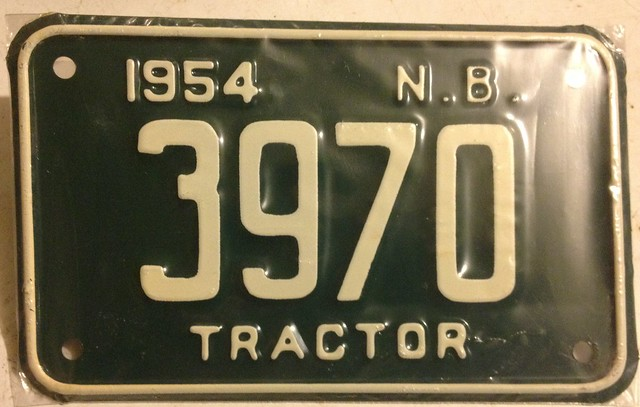 Tractor License Plates : New brunswick tractor plate explore woody a