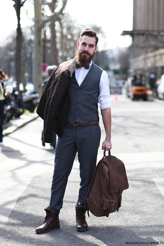 Street syle Maxime Chauviere at Paris fashion week