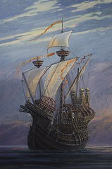 frigate(0.0), barque(0.0), brig(0.0), brigantine(0.0), sailing ship(1.0), vehicle(1.0), ship(1.0), sea(1.0), fluyt(1.0), mast(1.0), carrack(1.0), ghost ship(1.0), manila galleon(1.0), caravel(1.0), watercraft(1.0), galleon(1.0),