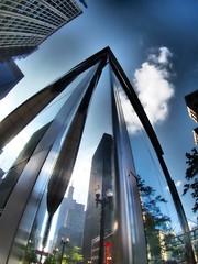 Reflecting on Chicago - Olympus OMD Em10