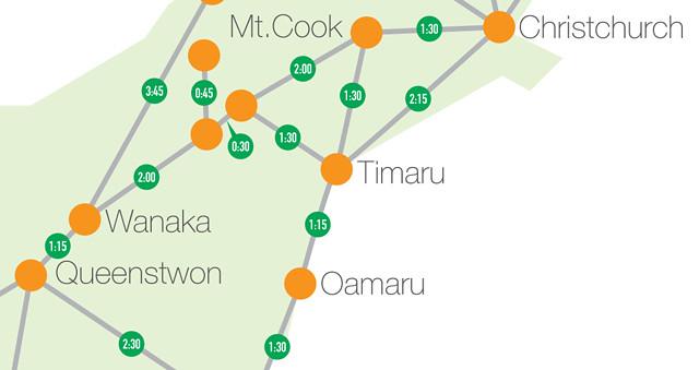 Distance to Destination map