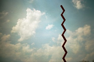 Endless Column and Summer Clouds