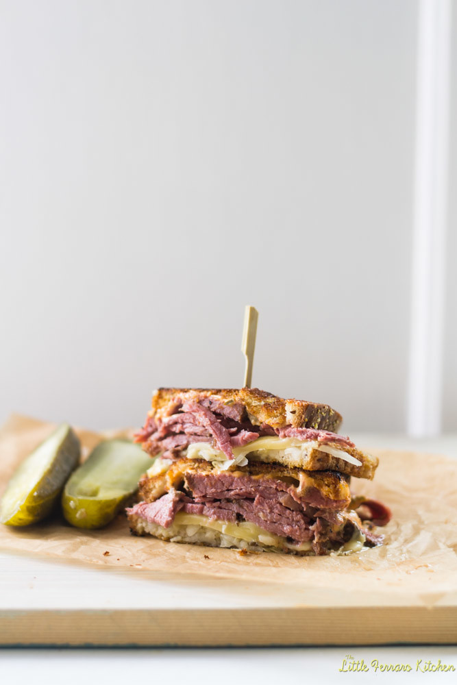 Reuben Sandwich, Kicked Up a Notch via LIttleFerraroKitchen.com