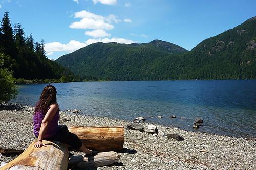 Cameron Lake on Pacific Rim Highway 4, Vancouver Island, British Columbia, Canada