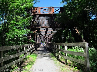 The trestle on the Lehigh Valley Trail over the Genesee River, south of Rochester, New York