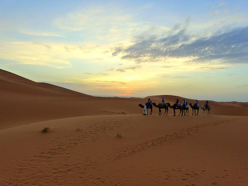 Dawn in the desert, Morocco