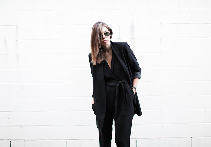 modern legacy fashion blog australia office wear Witchery jumpsuit street style all black Alexander Wang Antonia heels Monki oversized boyfriend blazer  (5 of 8)
