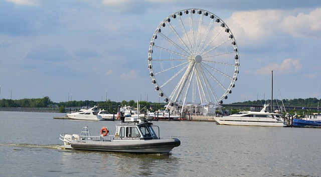 NRP Patrol at the National Harbor in front of the ferris wheel
