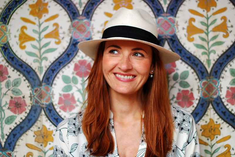 Red hair & a Panama hat