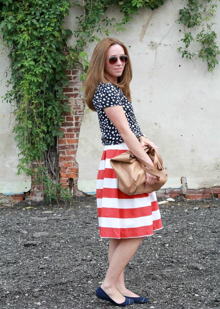 midi skirt styled for summer via Kristina J blog