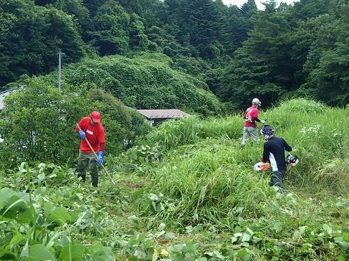 南相馬・小高でボランティア(援人 2014年 0718便)