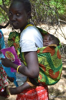 Mother and her child after ITN distribution