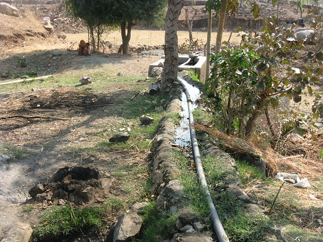 Construction of well lining and provision of pipeline improved water yield from the wells