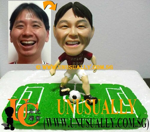 Unusually Personalized 3D Male Soccer Figurine - @www.unusually.com.sg