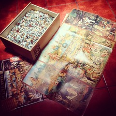 "I am SO happy! Habemus new puzzle!  I'm gonna start a 10,000 pieces puzzle of ""The Garden of Earthly Delights""!  Can't wait to dive in!   #TheGardenofEarthlyDelights #Painting #Bosco #ElJardinDeLasDelicias #HieronymusBosch #Puzzle #10000pieces #hobbies #f"