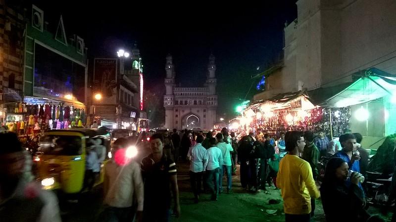 Busy Streets near Char Minar
