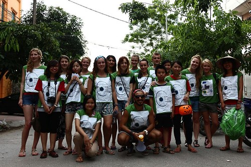 Foot rally against plastic bags