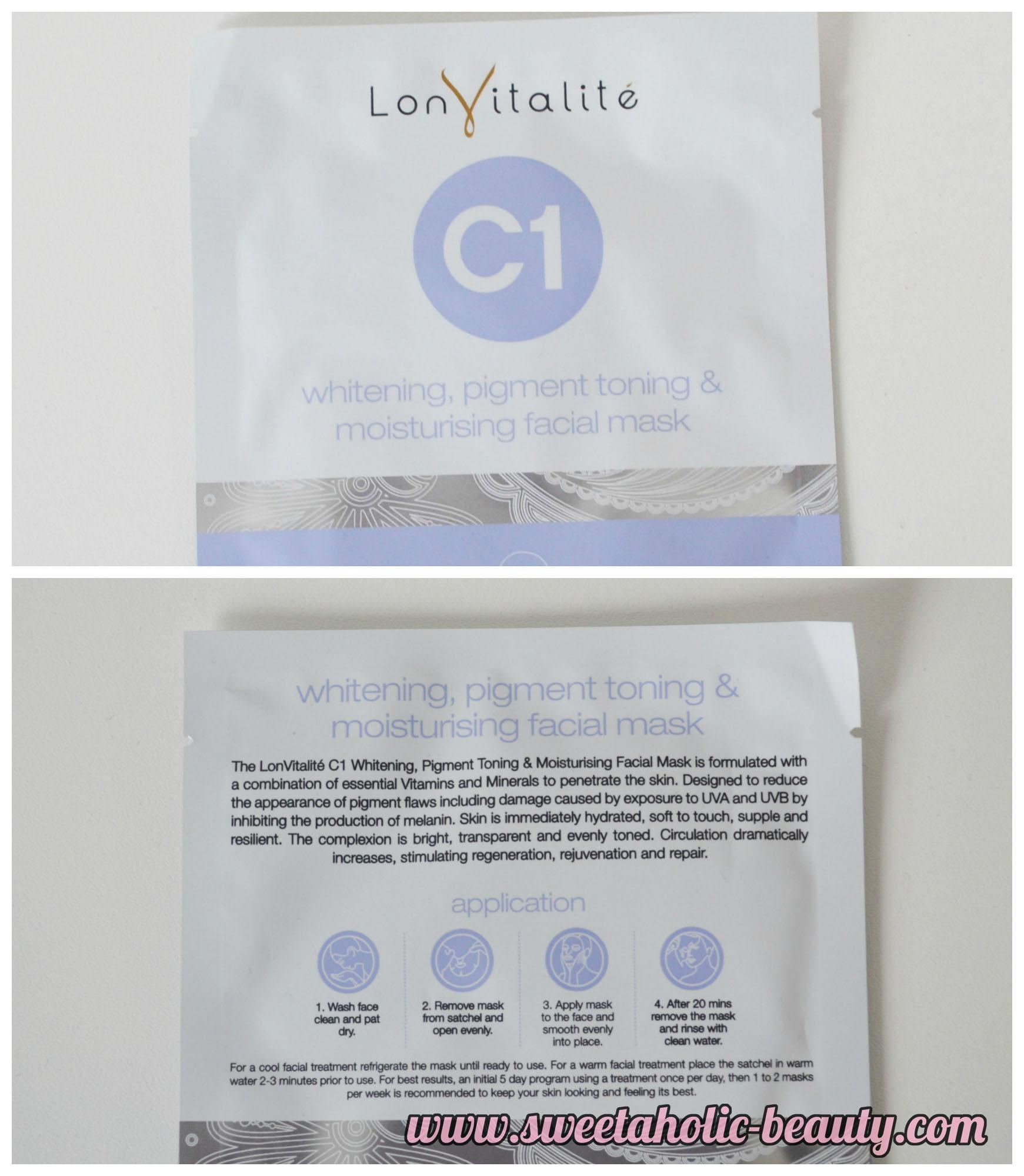 Lon Vitalite, Face Masks, Skincare,