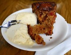 meal, breakfast, carrot cake, food, dish, dessert, cuisine,