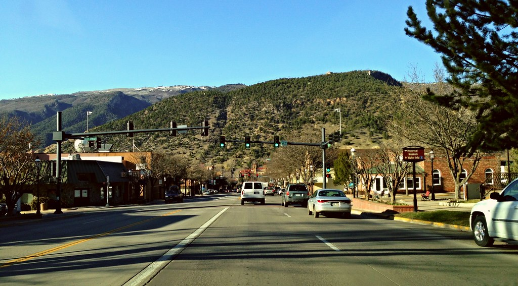 Driving through the town of Glenwood Springs