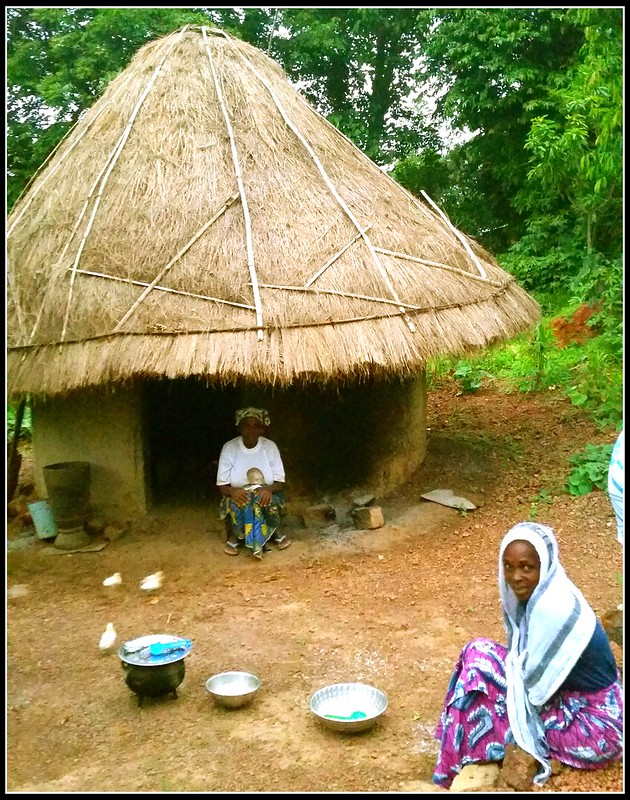a hut in the village