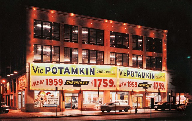 Potamkin Chevrolet - 1101 South Broad Street, Philadelphia, Pennsylvania U.S.A. - 1959