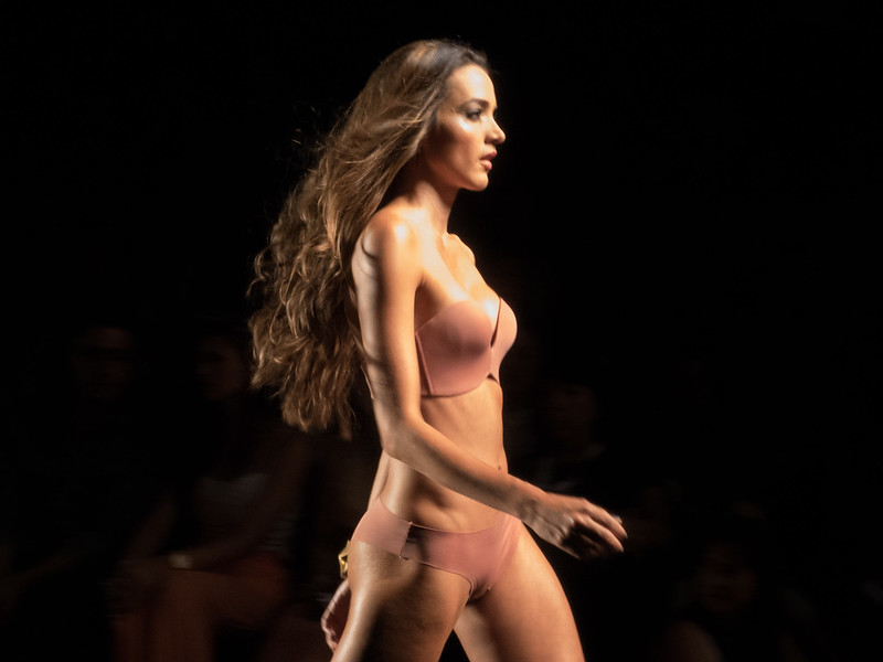 The lingerie, I find ugly, but I love the feeling of motion in this photo, thanks to the models long flowing hair