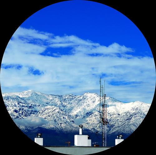 chile blue sky mountain azul clouds day view cielo nubes round montaña día circular cordillera cordilleradelosandes