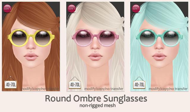 TRDF (Round Ombre Sunglasses)