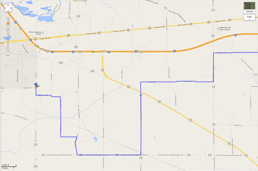 Us Bicycle Rt 50 The Proposed Crazy Route Across Preble County - Us-bicycle-route-50-map