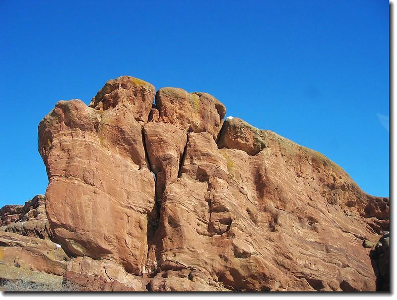 Nine Parks Rock(faces west )