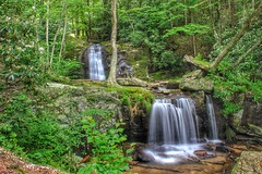 Waterfalls Park in Newland, NC