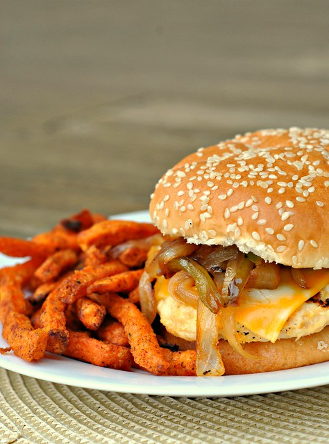Fajita Chicken Burger 4