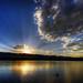 Sunset at Chatfield Lake by Thad Roan - Bridgepix