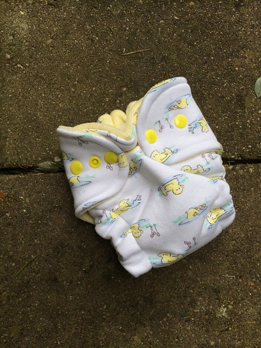 Bumstoppers Newborn Hybrid Fitted Duckie