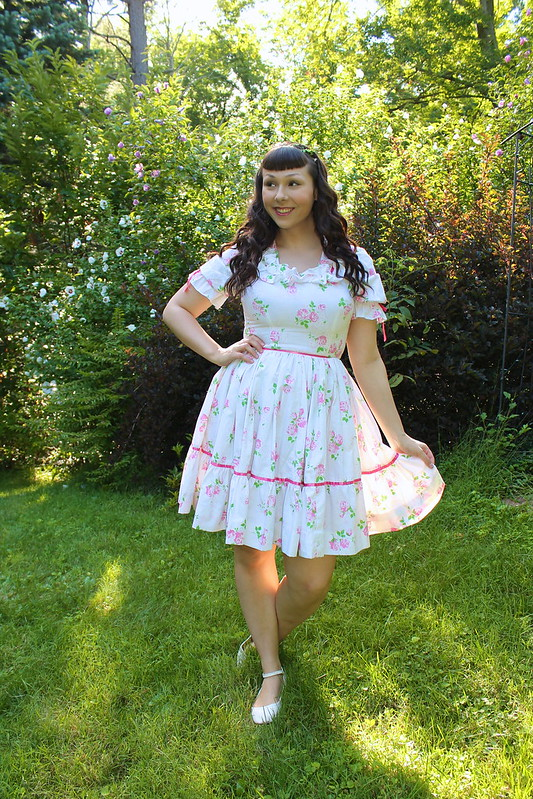 floral square dance dress