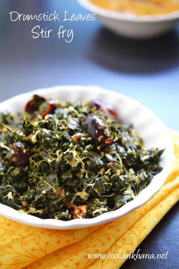 Murungai-Keerai-poriyal-recipe